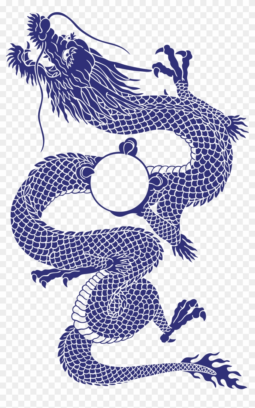 Japanese Dragon Chinese Dragon Tattoo Illustration - Drawing Japanese Dragon Traditional #1161760