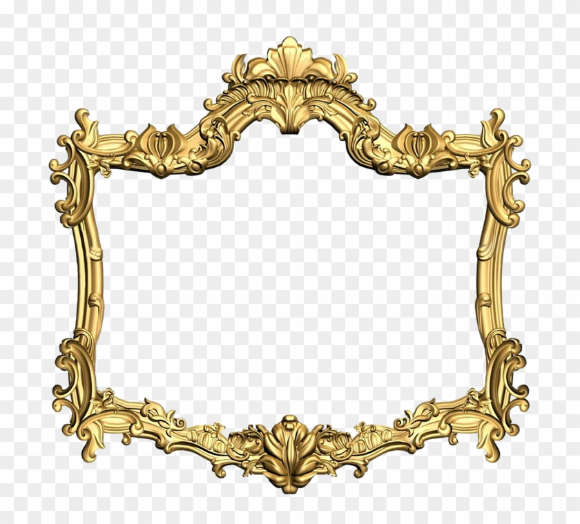 Gold Flower Frame Png Picture - Png Golden Frame Round #1161928