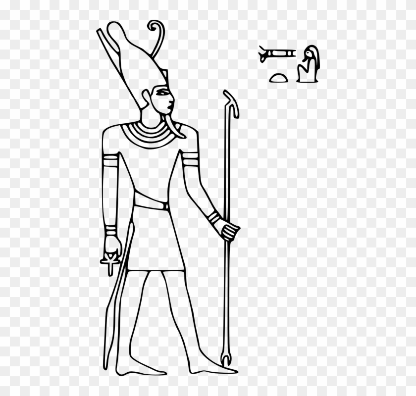 Hieroglyph Horus Egypt Pharaoh Double Crown Ruler Egyptian