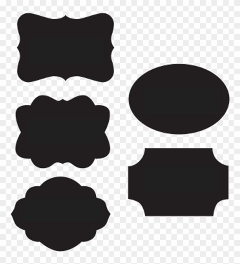 Chalkboard Label Clipart - Blackboard Shape Png #1163750