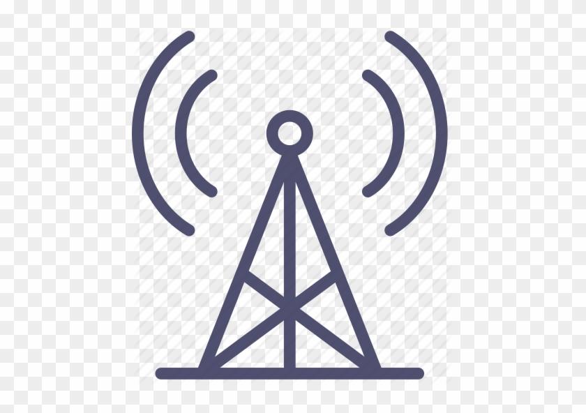 Vector Design Of Radio Tower Broadcast Icon Royalty - Radio