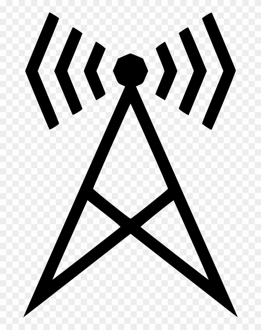 Wifi Station Radio Podcast Communication Comments - Transparent Background Pentagram Icon #1164176