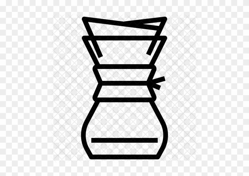 Chemex Coffee Maker Icon - Emoji Chemex - Free Transparent PNG