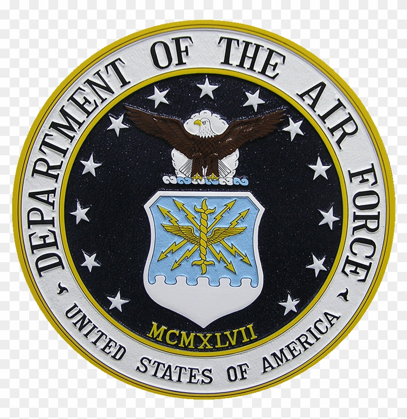 Department Of The Air Force Seal Podium Plaque - United States Air Force #1164879