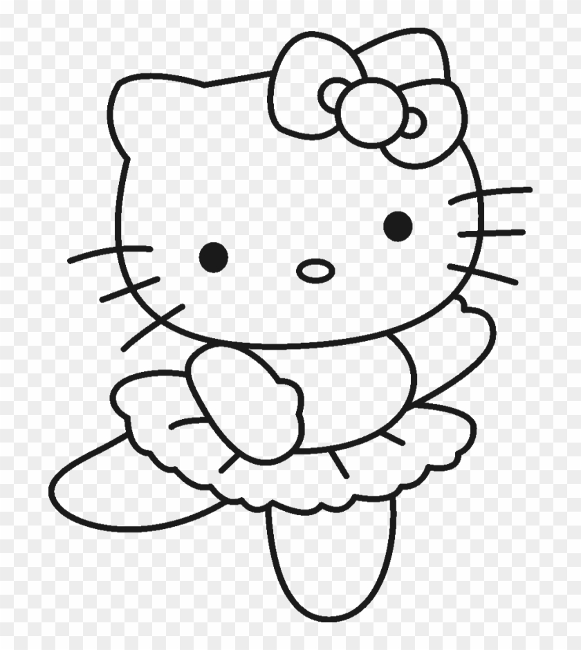 Hello Kitty Was Wearing A Cute Costume Coloring Page - Hello Kitty Coloring Pages #1165531