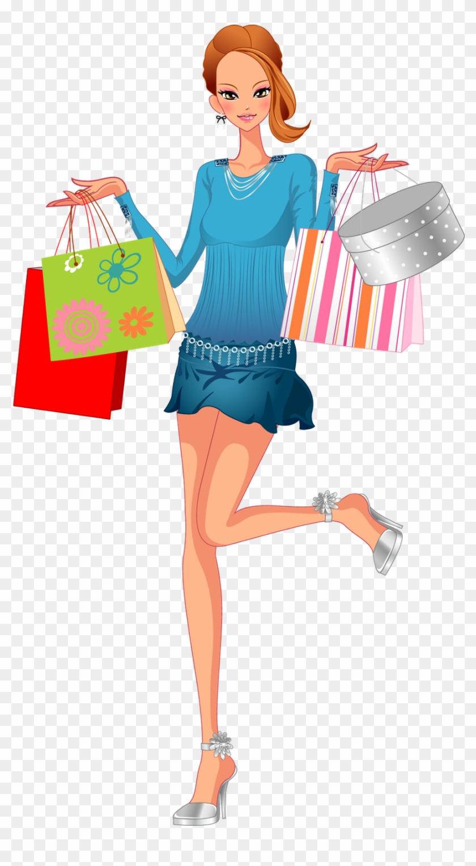 Fashion Shopping Woman Clip Art - Girls Shopping #1165738