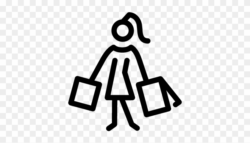 Woman Shopping Vector - Girl Shopping Icon Png #1165747