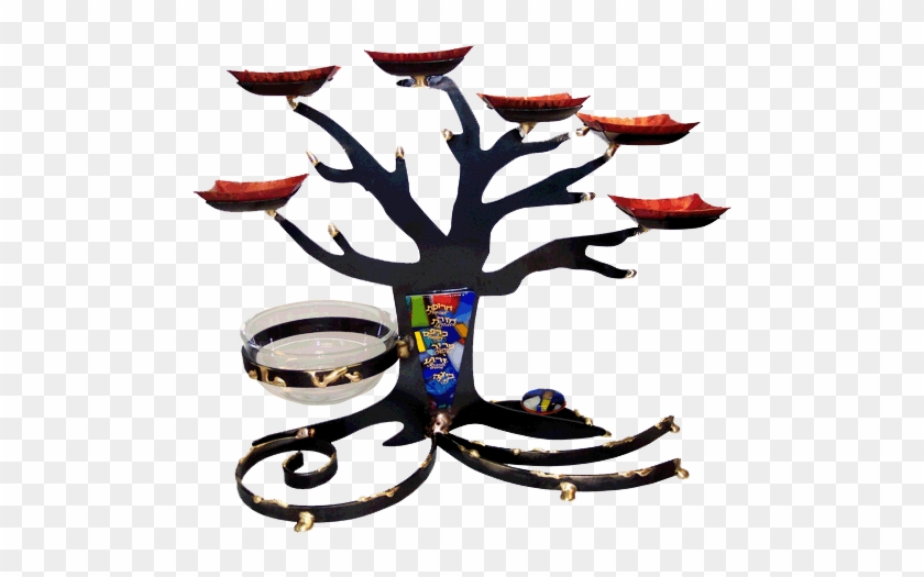 Mixed Metal Black Tree Of Life Seder Plate - Gary Rosenthal Sp25 Tree Of Life Seder Plate #1166101
