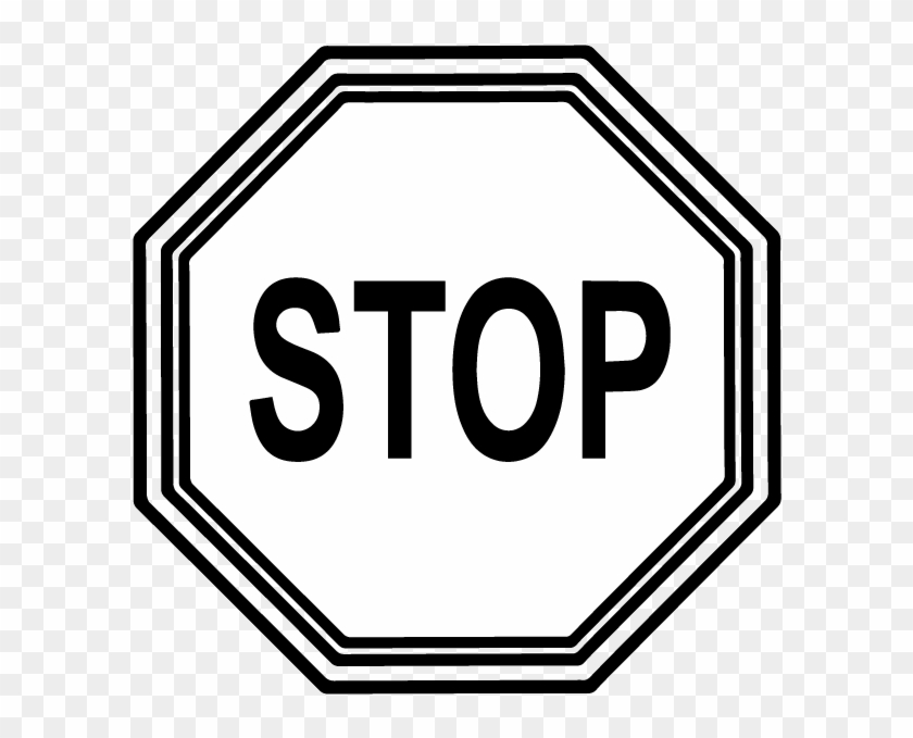 Best Stop Sign Black And White - Stop Sign Black And White Transparent #1167728