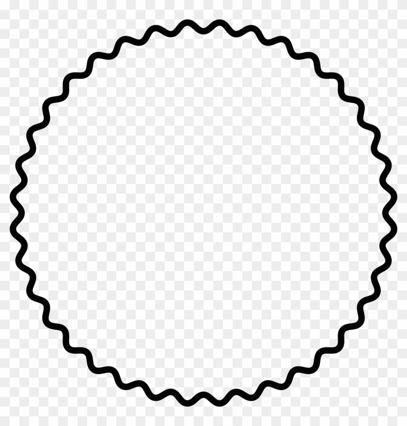 Medium Image - Png Round Scalloped Frame #1168267