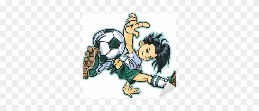 Asian Break Dancing Soccer Girl Vector Clip Art Sticker Cool Soccer Cartoon Free Transparent Png Clipart Images Download