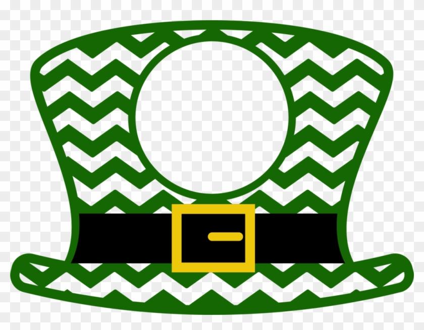 Chevron Leprechaun Hat With Monogram Circle Love Teacher Svg Free Transparent Png Clipart Images Download