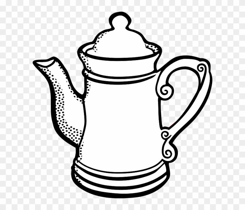 Teapot Clipart Teko Gambar Panci Hitam Putih Free Transparent