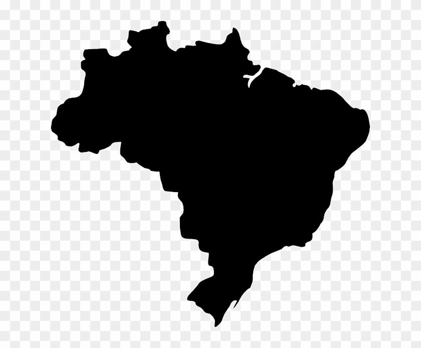 Brazil Vector Map Clip Art - Walking Away Silhouette Png #1170105