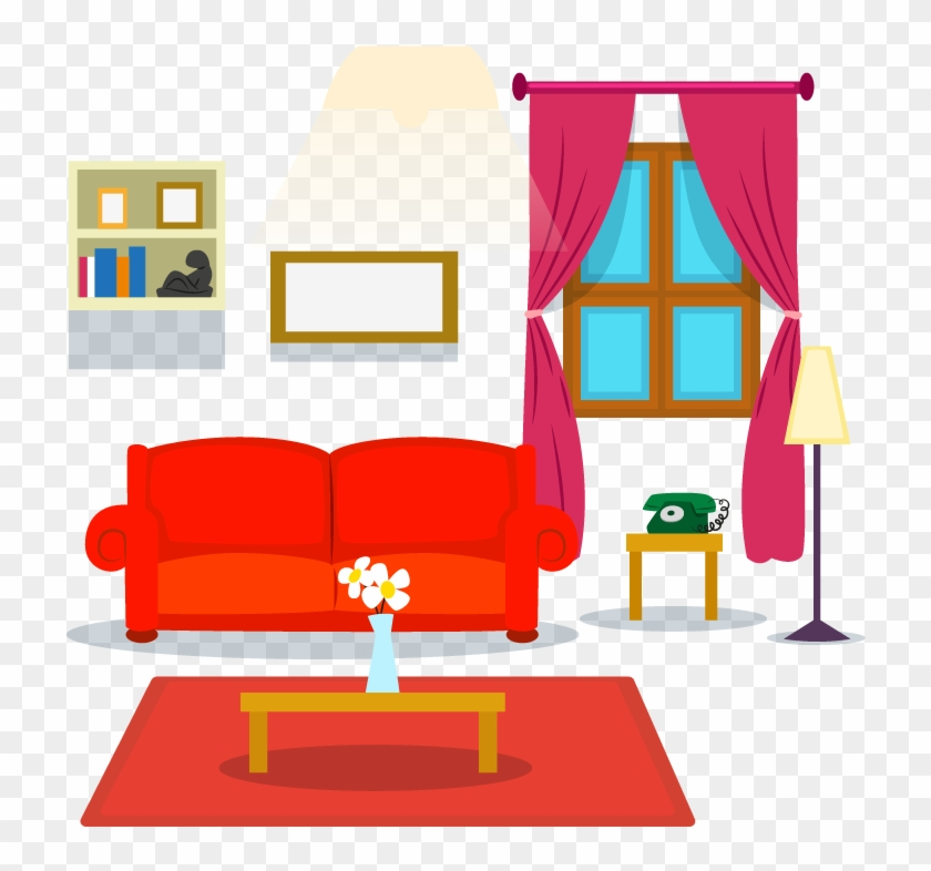Table Living Room Couch Cartoon Living Room Png Free Transparent Png Clipart Images Download