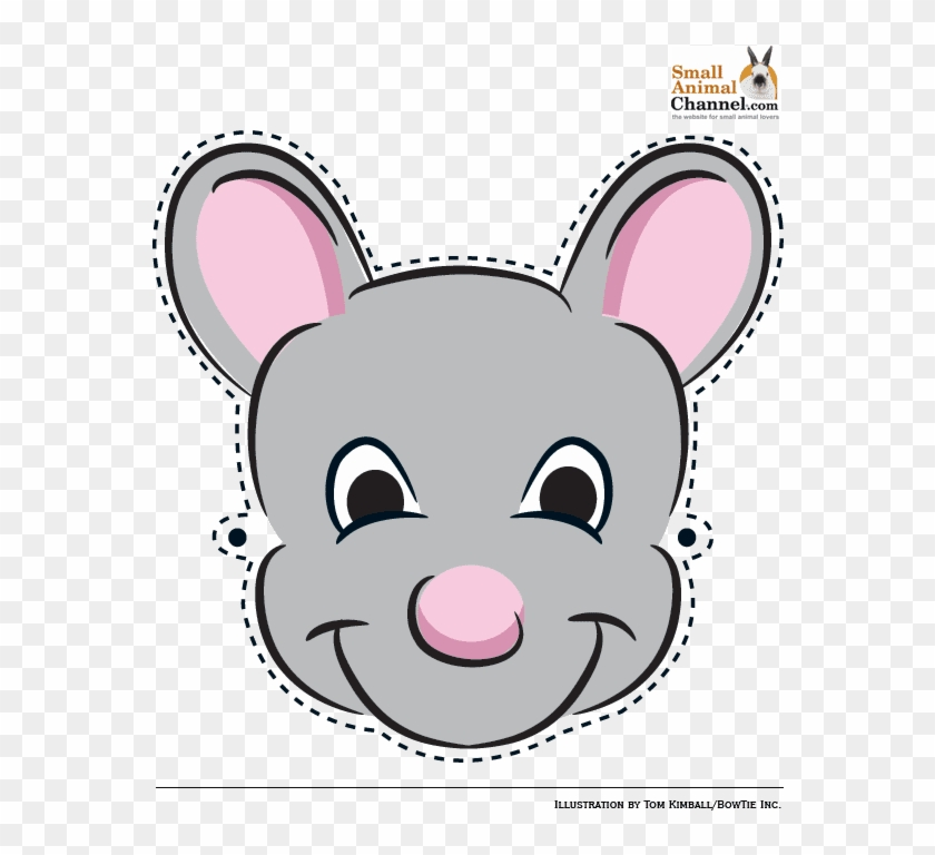 Mickey Mouse Face Mask Template For Kids