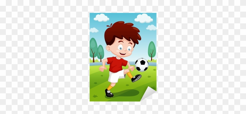 How To Draw A Boy Playing Soccer Easy Slowly By For