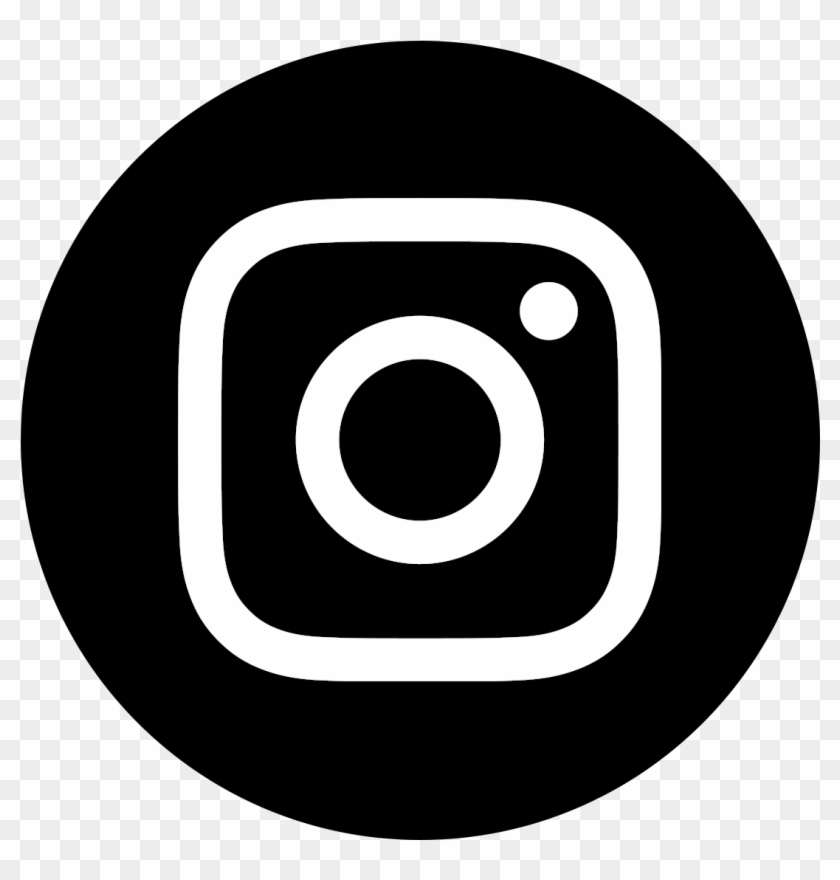 Instagram Icon White On Black Circle - Logo Instagram Black Png #1171407