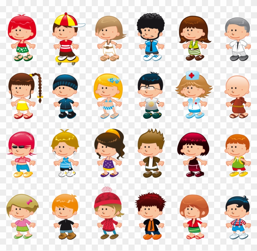 See A Rich Collection Of Stock Images, Vectors, Or - Cartoon Boys And Girls #1171700