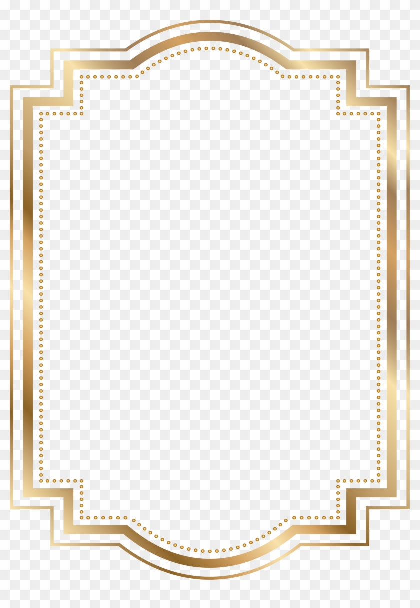 Seascape Clipart Border - Gold Frame Clipart Png #1171811