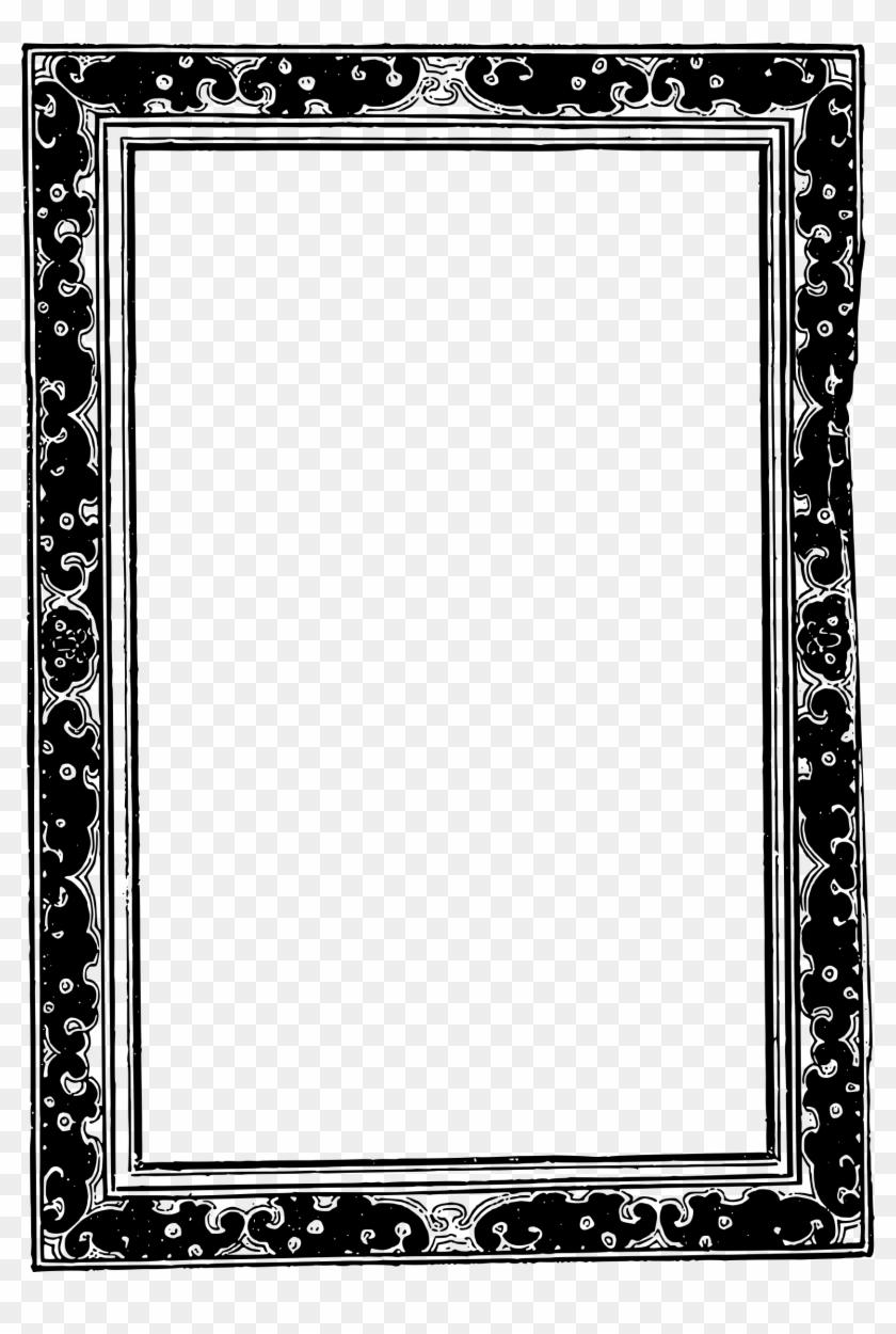 Asians Clipart Frame - Black & White Mirror Frames - Free ...