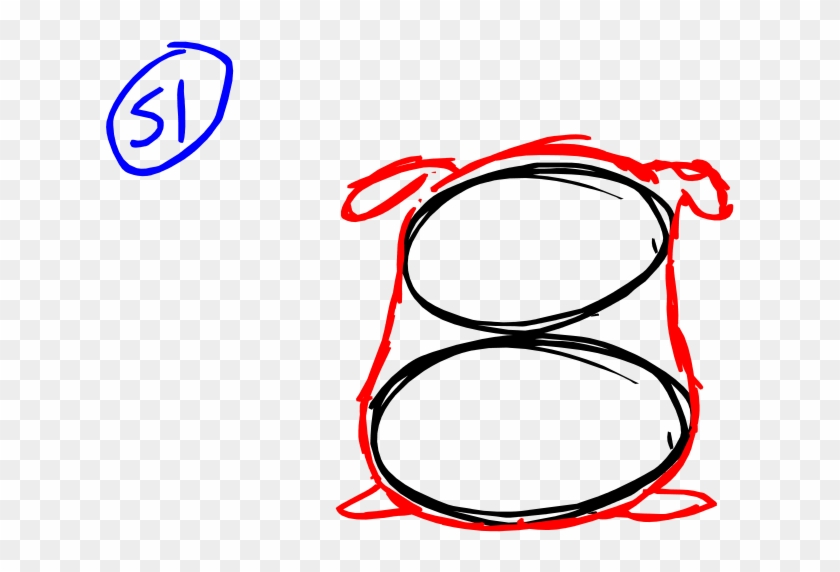 Here's A Simple Way To Draw A Sack Using 2 Different - Circle #1172170