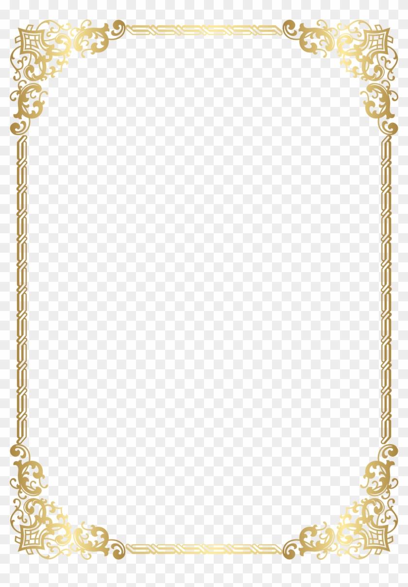 Gold Border Frame Transparent Clip Art Image - Gold Border Clip Art #1172387