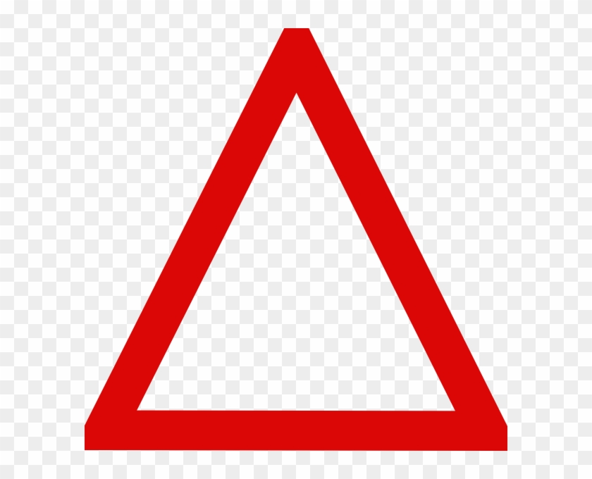 Triangle Clipart Red - Blank Triangle Road Sign #1172591