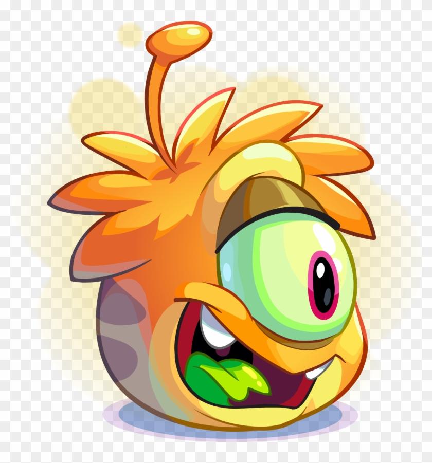 Orange Alien Puffle Adoption - Club Penguin Puffles Alien #1172973