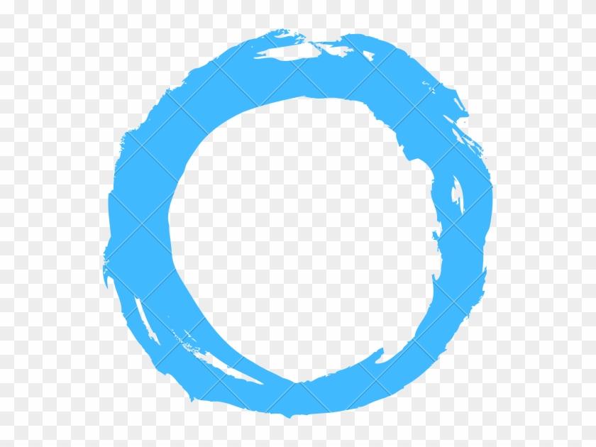 Circle Shape Drawing - Blue Brush Stroke Circle Png #1174601