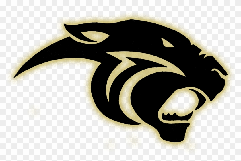 Panther Logo Glow Gold Black Panther Logo Free Transparent Png Clipart Images Download
