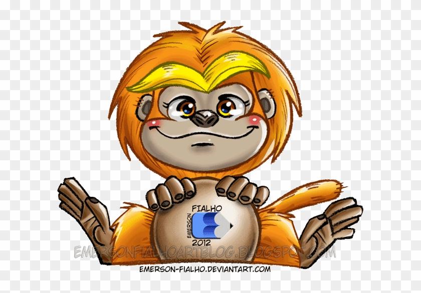 Golden Lion Tamarin Cartoon Drawing Monkey Desenhos De Micos