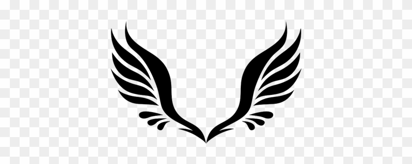 Simple Angel Wings Tattoo - Angel Wings Clipart #1176580