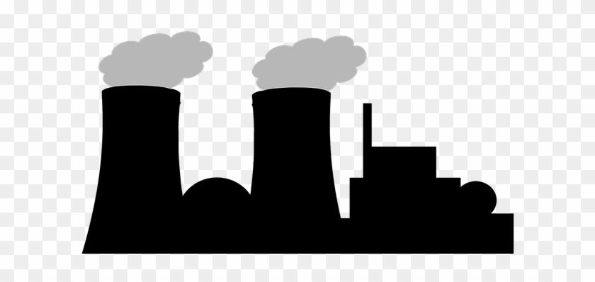 Silhouette Nuclear Power Plant Power Plant - Power Plant Silhouette #1176940