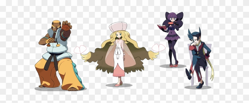 The Elite Four Of The Unova Region Black And White Elite 4 Free Transparent Png Clipart Images Download