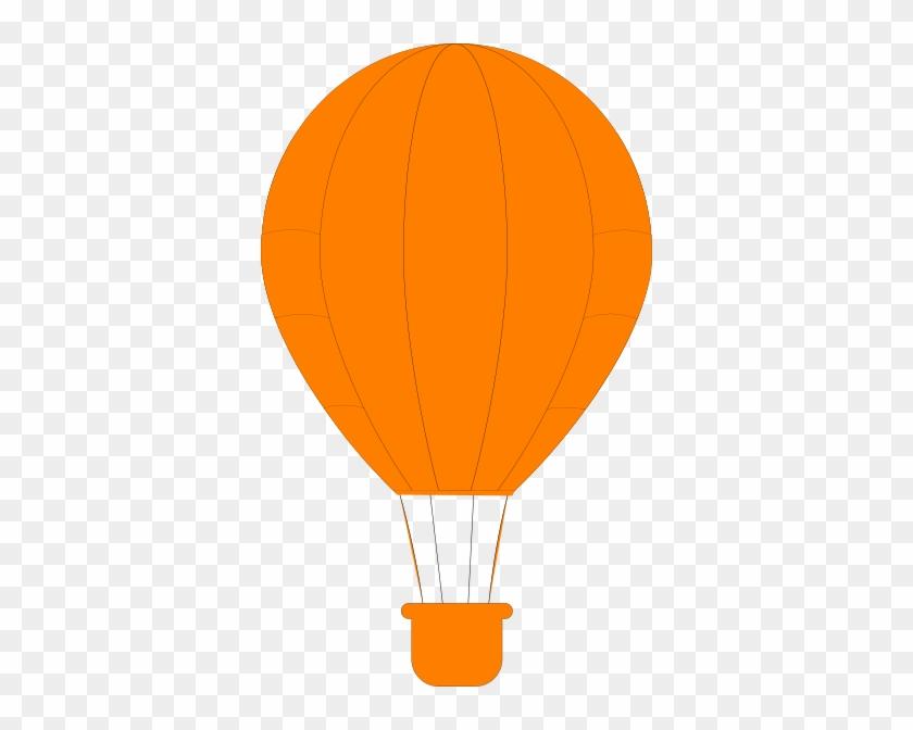 Orange Balloon Clipart Orange Hot Air Balloon Clip - Orange Hot Air Balloon #1177406