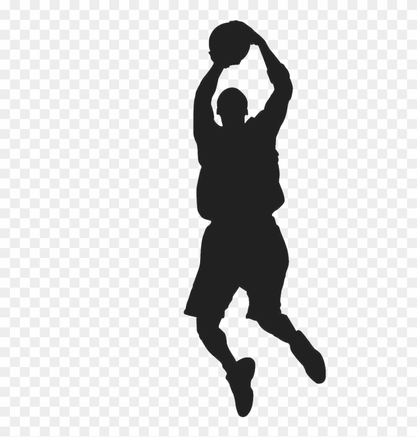 Basketball Sport Silhouette Clip Art - Boys Basketball Silhouette #1177448