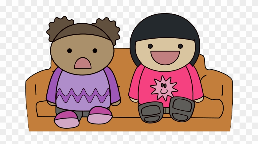 Watching Tv Watch Tv Clipart Clipartfest - Two Girls Watching Tv In Cartoon #1178207