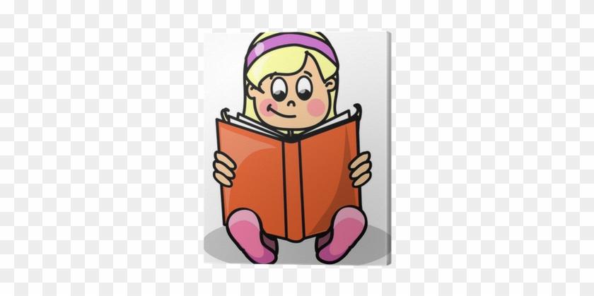 Canvas Cartoon Meisje Het Lezen Van Een Boek • Pixers® - Do You Want To Be When You Grow Up? #1179065