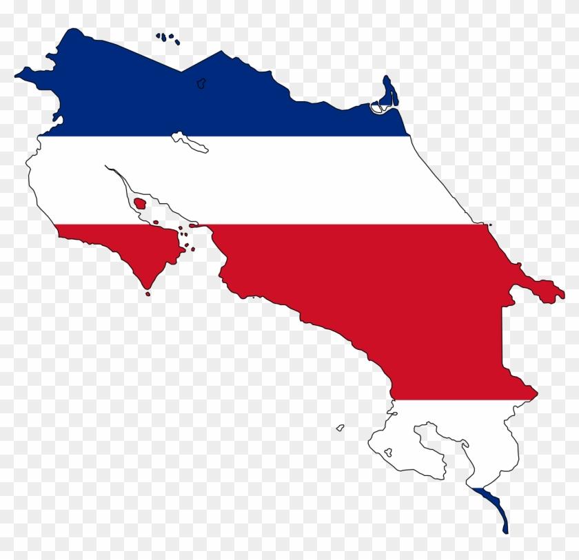 Costa Rica Flag Map Large Map Cross Stitch World Pinterest - Costa ...