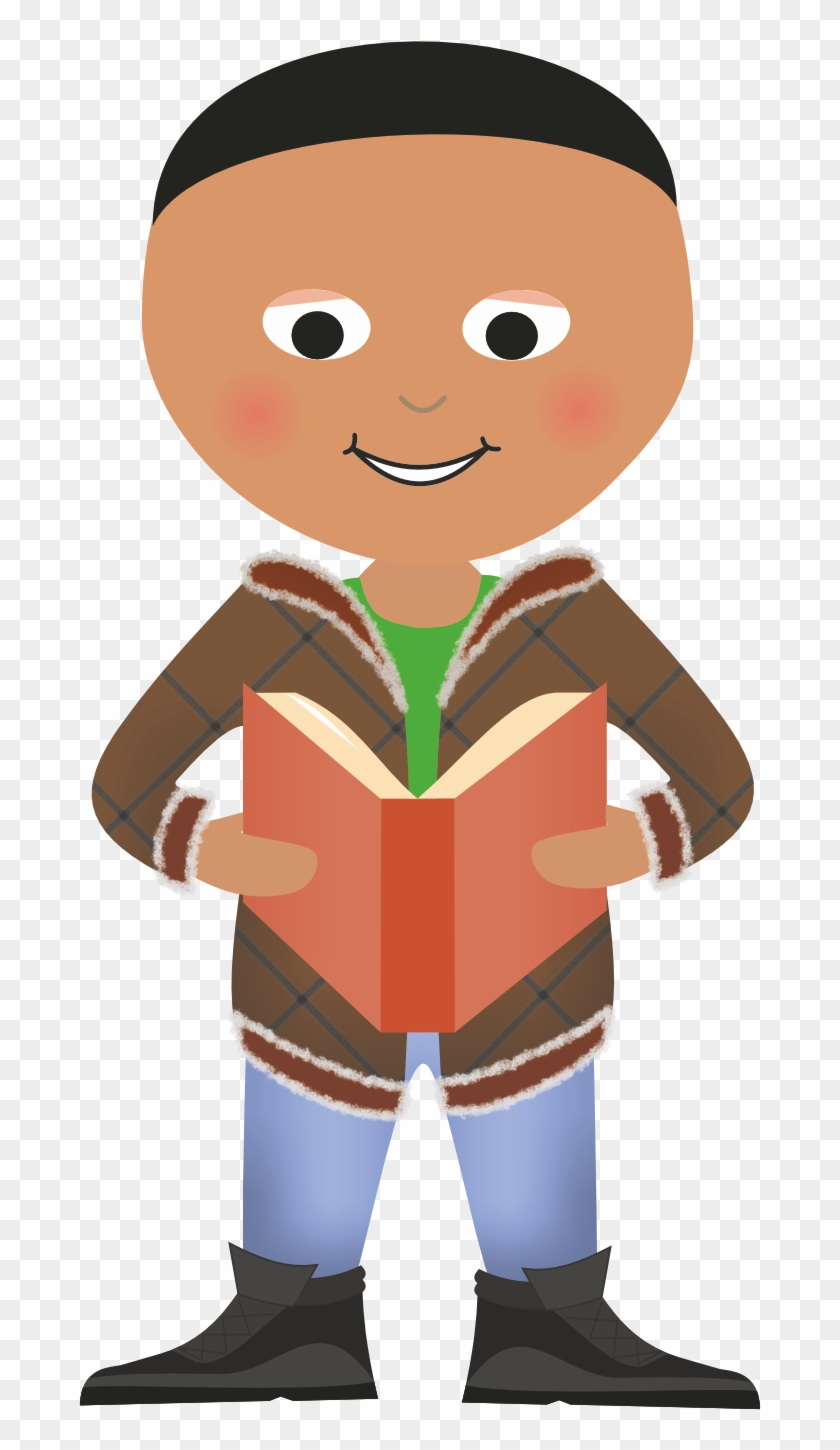 Boy Standing Reading - Clipart For Reading Book Standing #1179288
