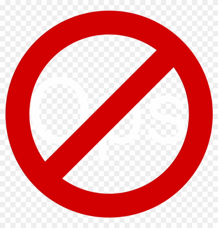 No Symbol Circle Library - No Turn Right Sign #1179329