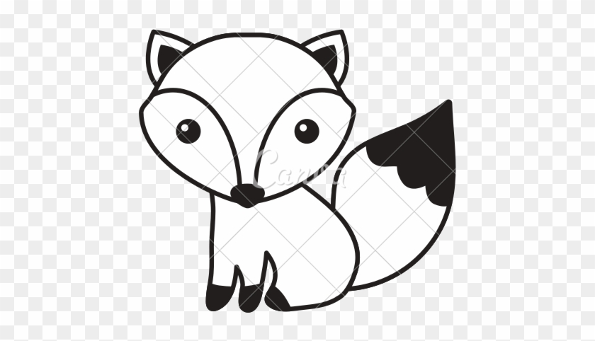Cute Fox Icon Cute Fox Black And White Free Transparent Png Clipart Images Download