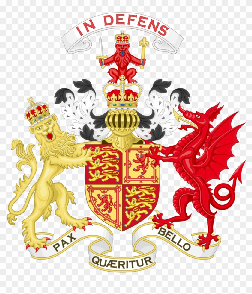 Flag, Coat Of Arms - Royal Coat Of Arms Wales #1179835