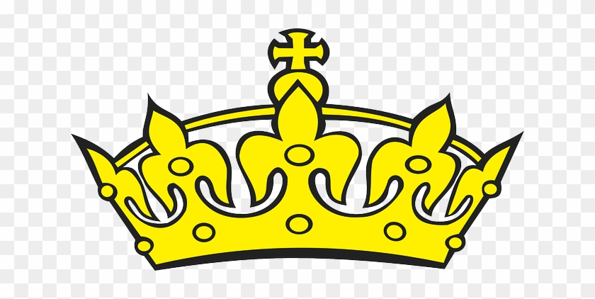 Cross Black Top Icon Simple Outline Symbol Cross Crown