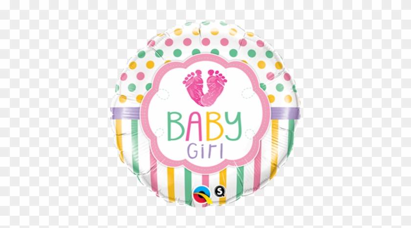 Baby Girl Feet - Qualatex Baby Girl Baby Lo Feet Foil Balloon #1180287
