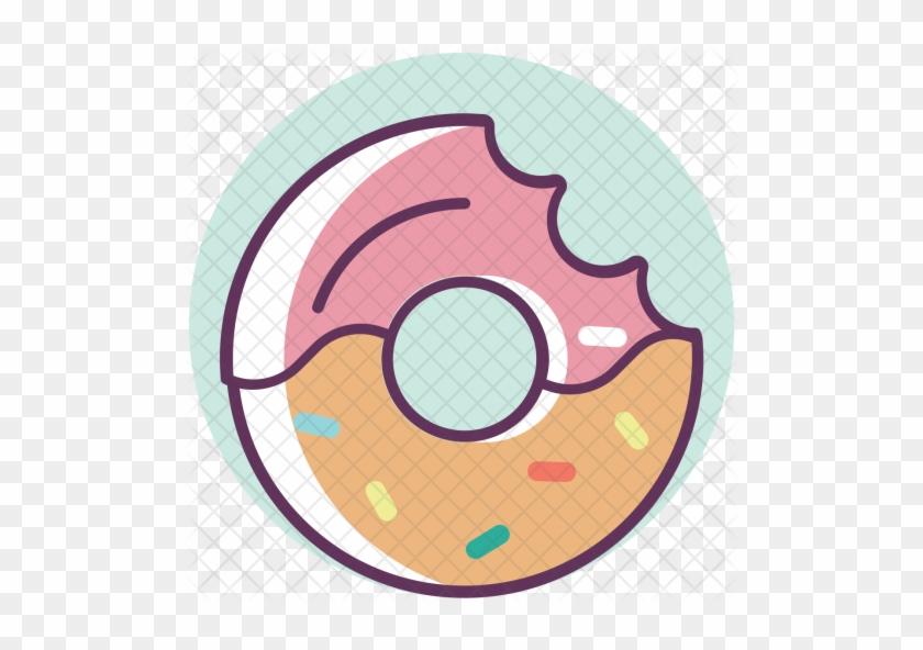 Donut, Doughnut, Sweet, Dessert, Food, Fastfood Icon - Doughnut #1180349