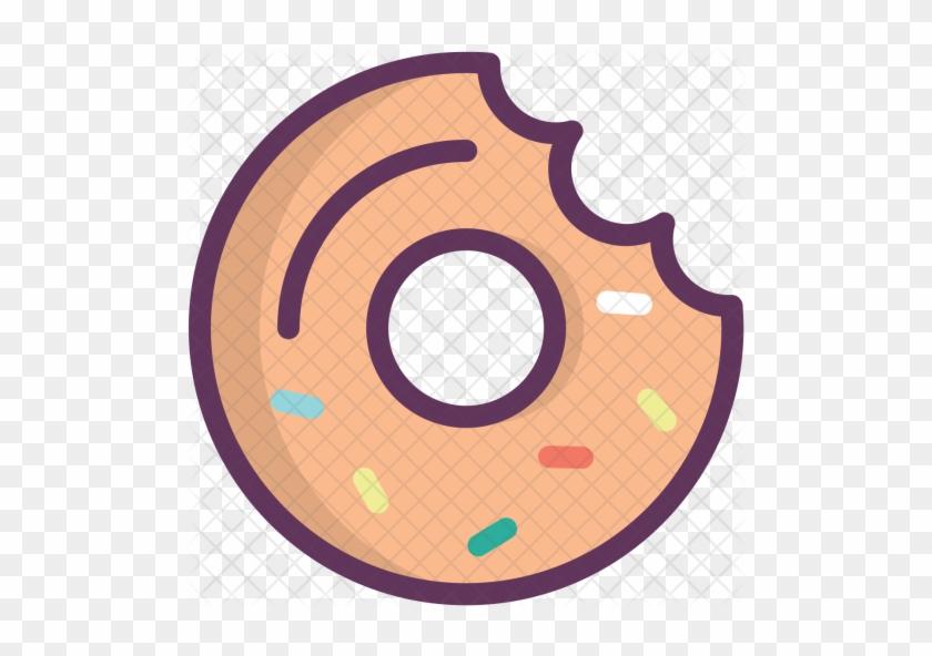 Donut, Doughnut, Sweet, Dessert, Food, Fastfood Icon - Doughnut #1180357