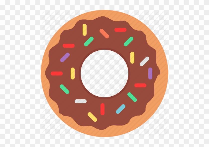 Donut Icon - Chocolate Donut Icon #1180361