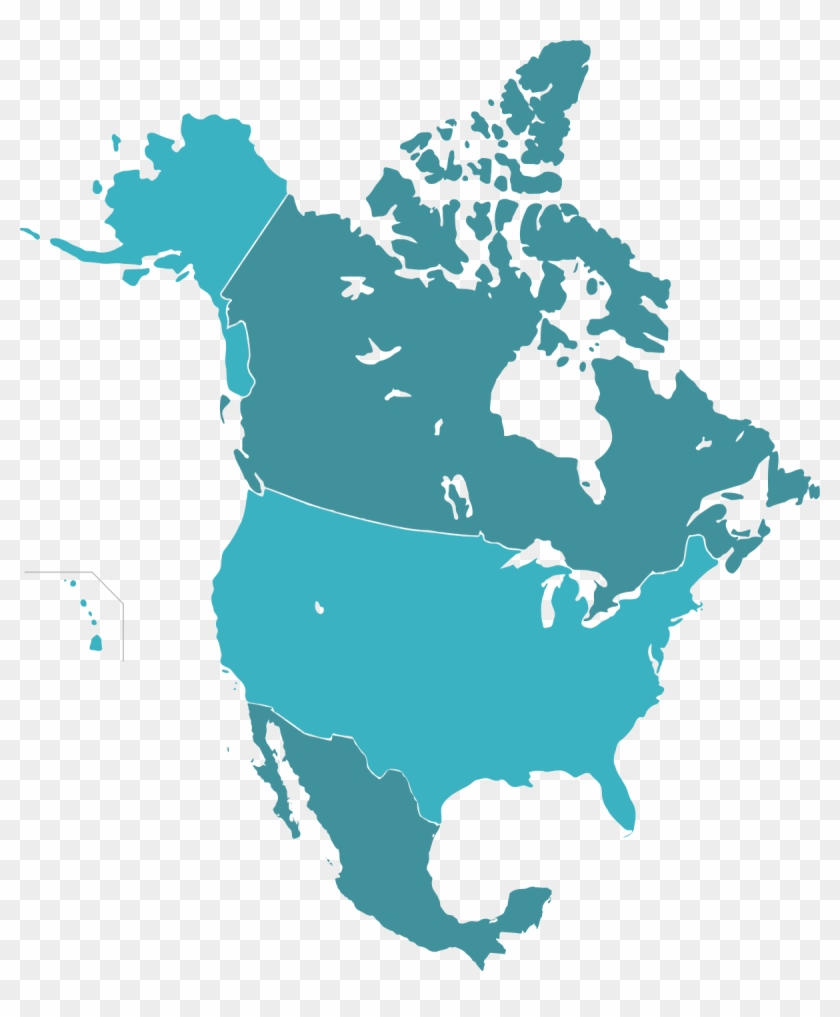 Map Of Canada And Us No Sattes 1200px Naunion Svg - Us Canada And ...